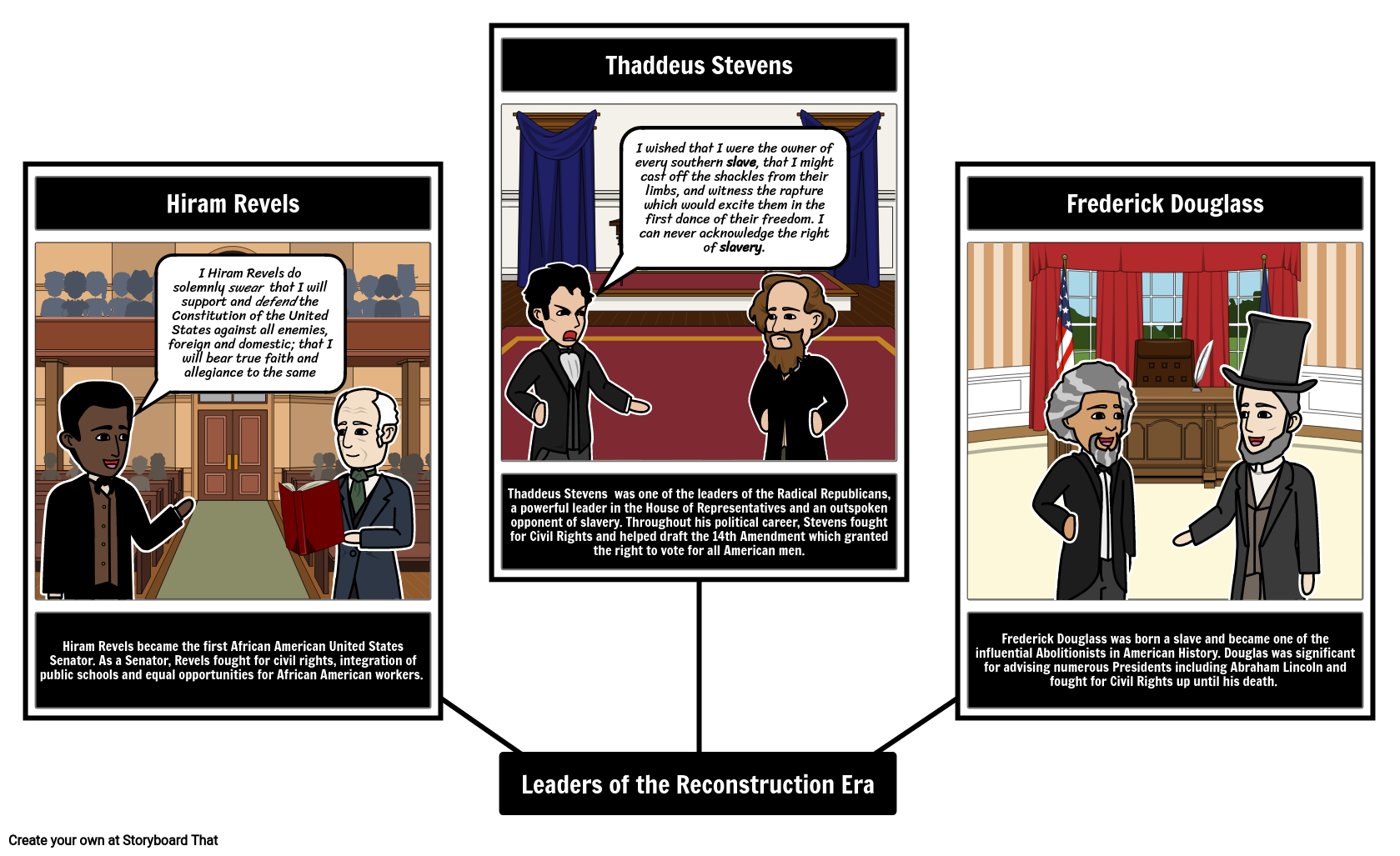 Leading Figures of the Reconstruction Era