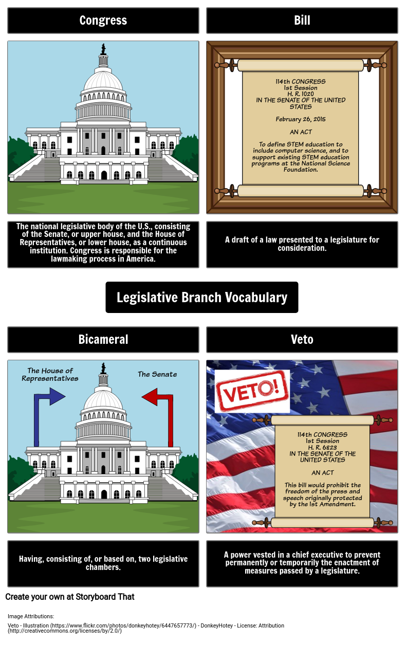 Legislative Branch Vocabulary