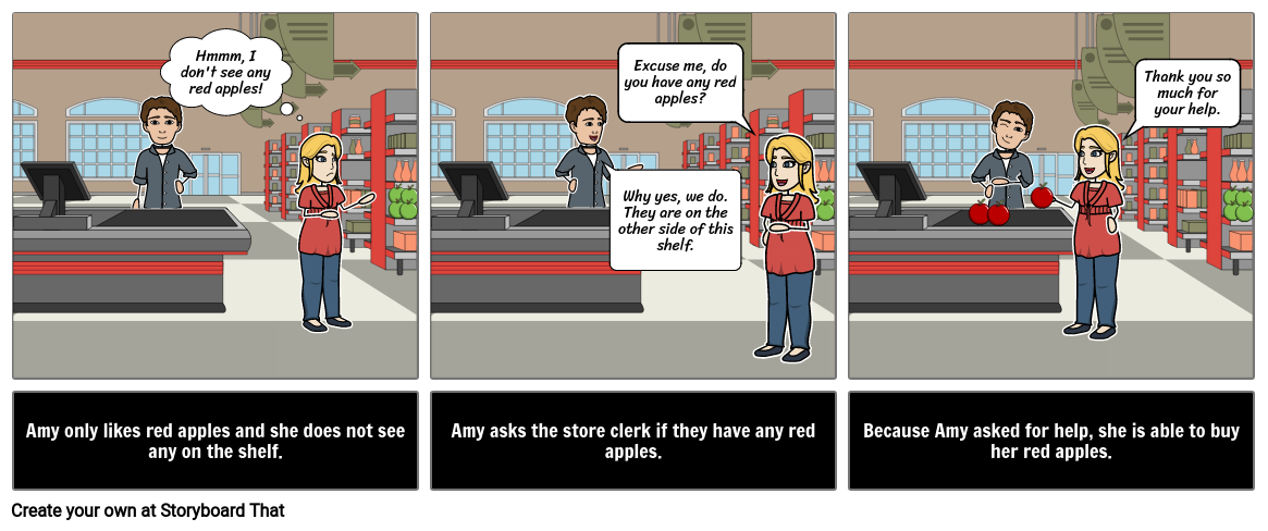 Asking for Help at the Store Social Story