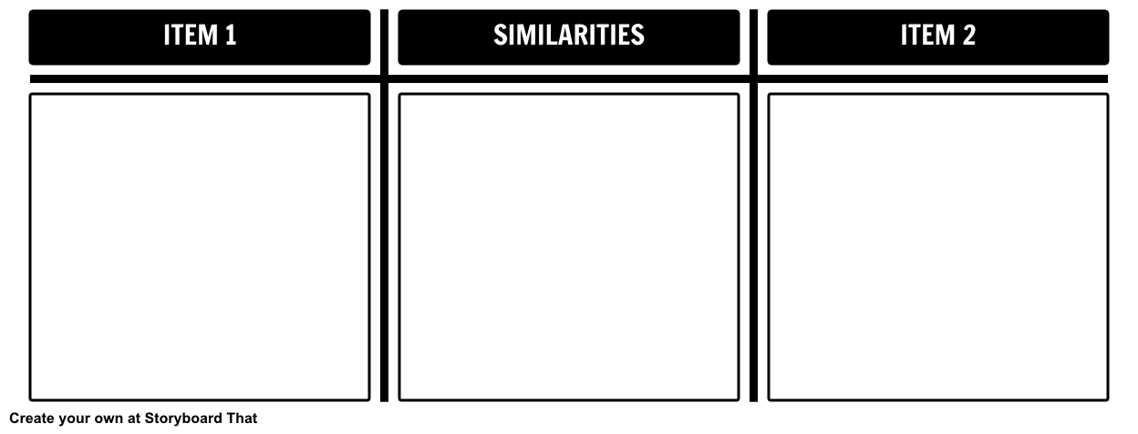 Compare and Contrast Template