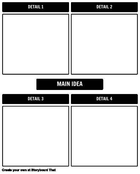 Main Idea/ Details Template
