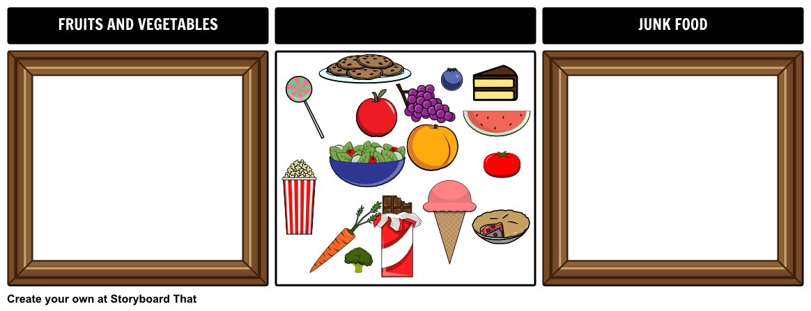 Sorting Board Example - Junk Food