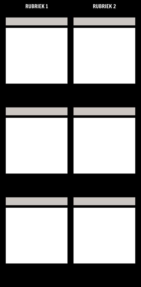 Blanco Vergelijking T-Chart