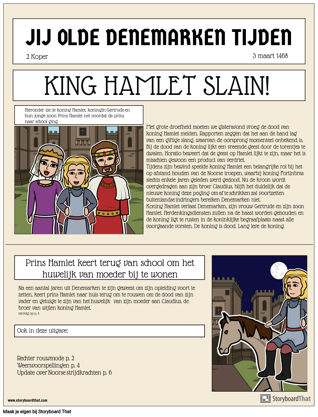 Hamlet Newspaper Announcement