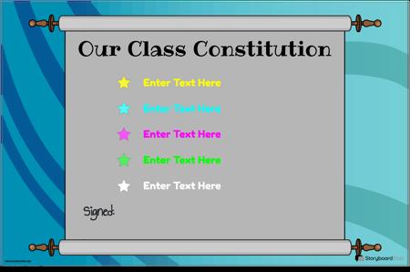 Klasse Grondwet 8
