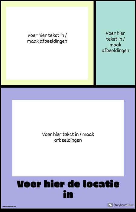 Kleurblokken Reizen Poster