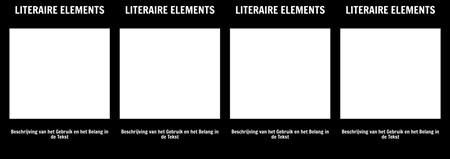 Literaire Elements T-Chart