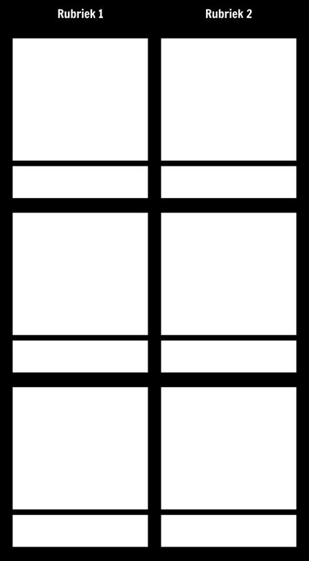 T-Chart 3 Rijen