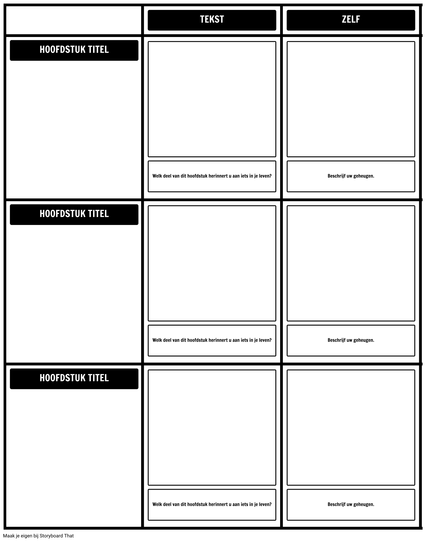 Text to Self Grid Template