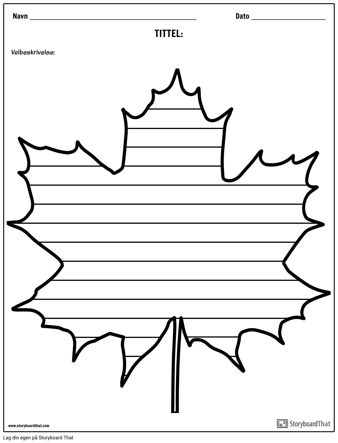 Kreativ Skriving - Maple Leaf