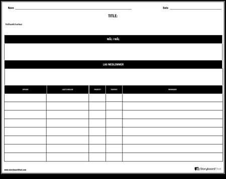 Planlegger - Etter Prosjekt