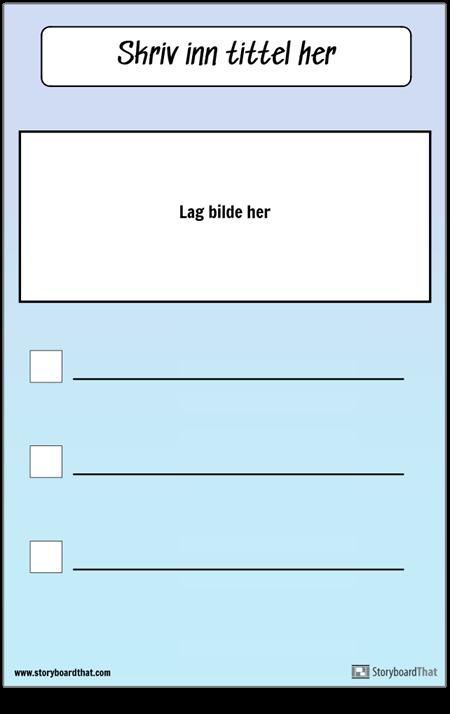 Sjekkliste med bilde