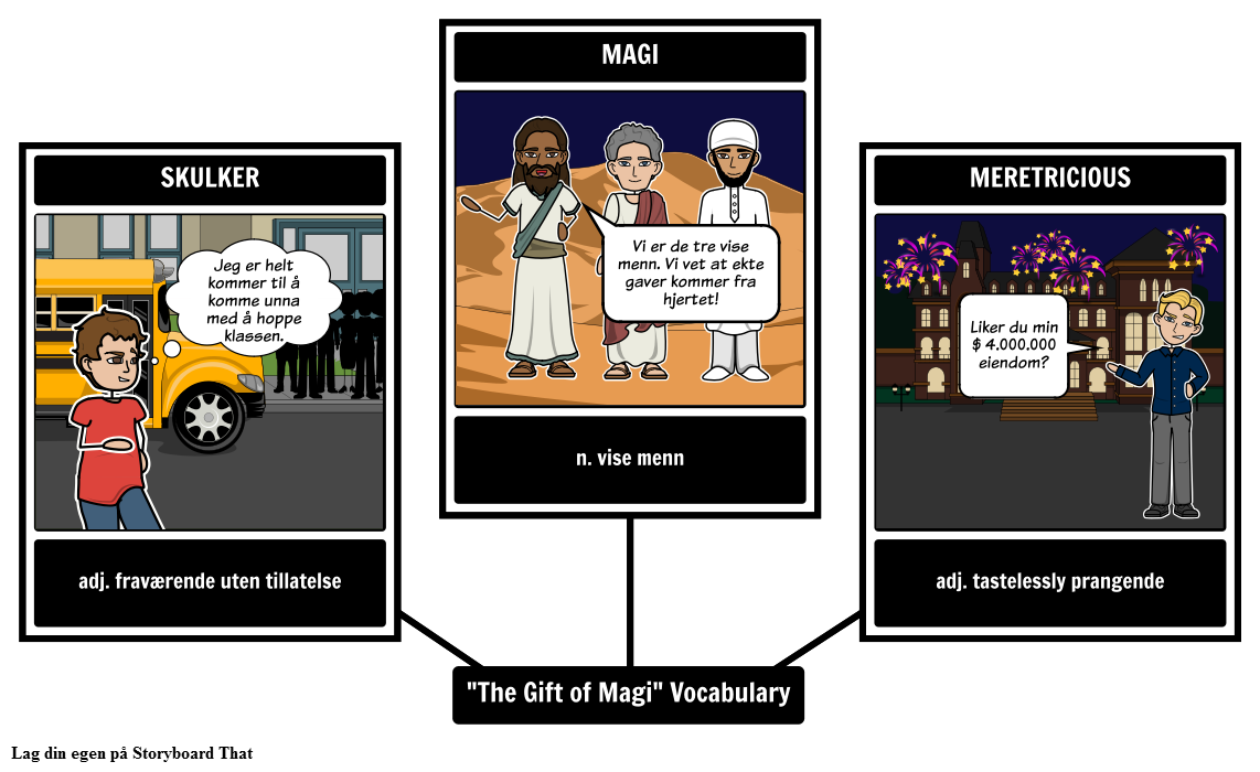 The Gift of Magi Vocabulary