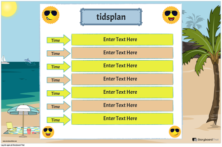 Timeplan 6