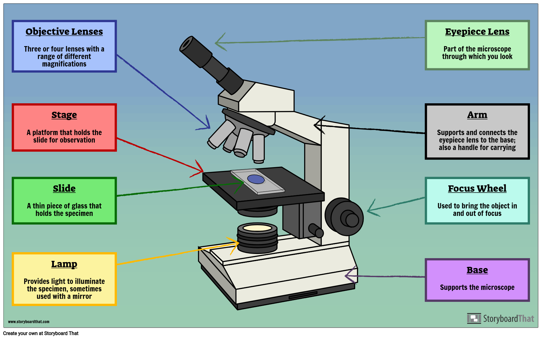 Labelled Microscope with Functions