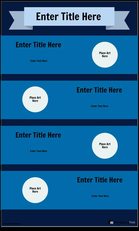 Niebieski Szablon Infografiki