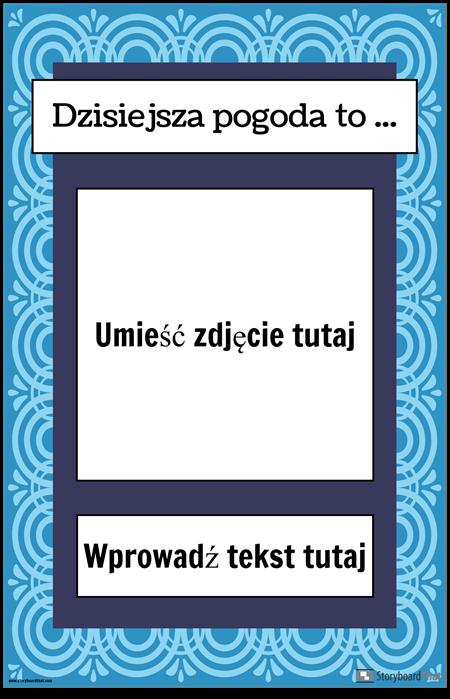 Plakat Pogodowy