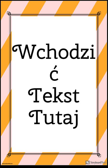 Plakat w Paski z Cytatem Pionowym