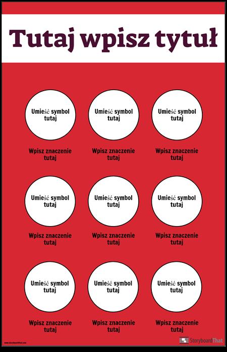 Plakat z Symbolami Bezpieczeństwa