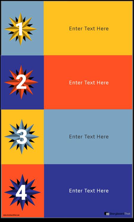 4 Blocks Infographic Template