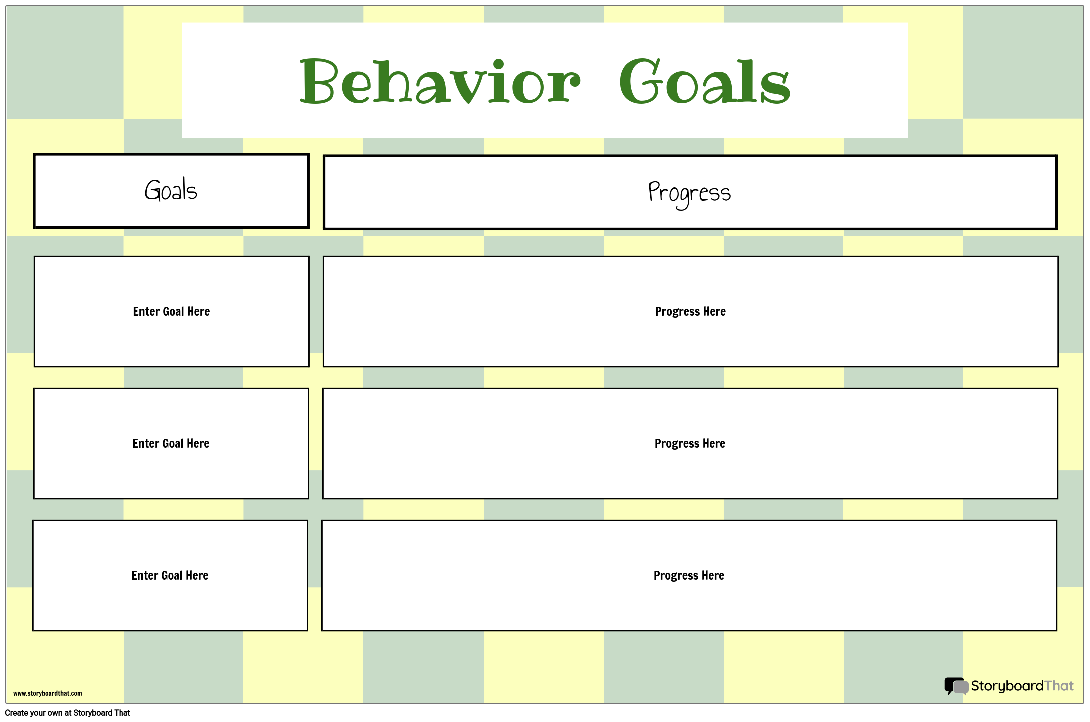 Behavior Goal Progress