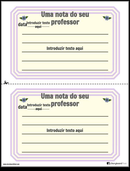 Notas 1 dos Pais e Professores