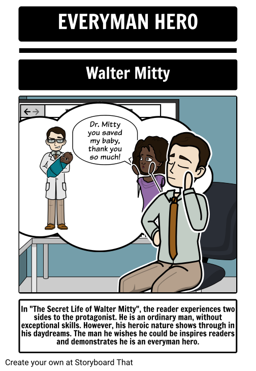Everyman Hero - Walter Mitty - Example