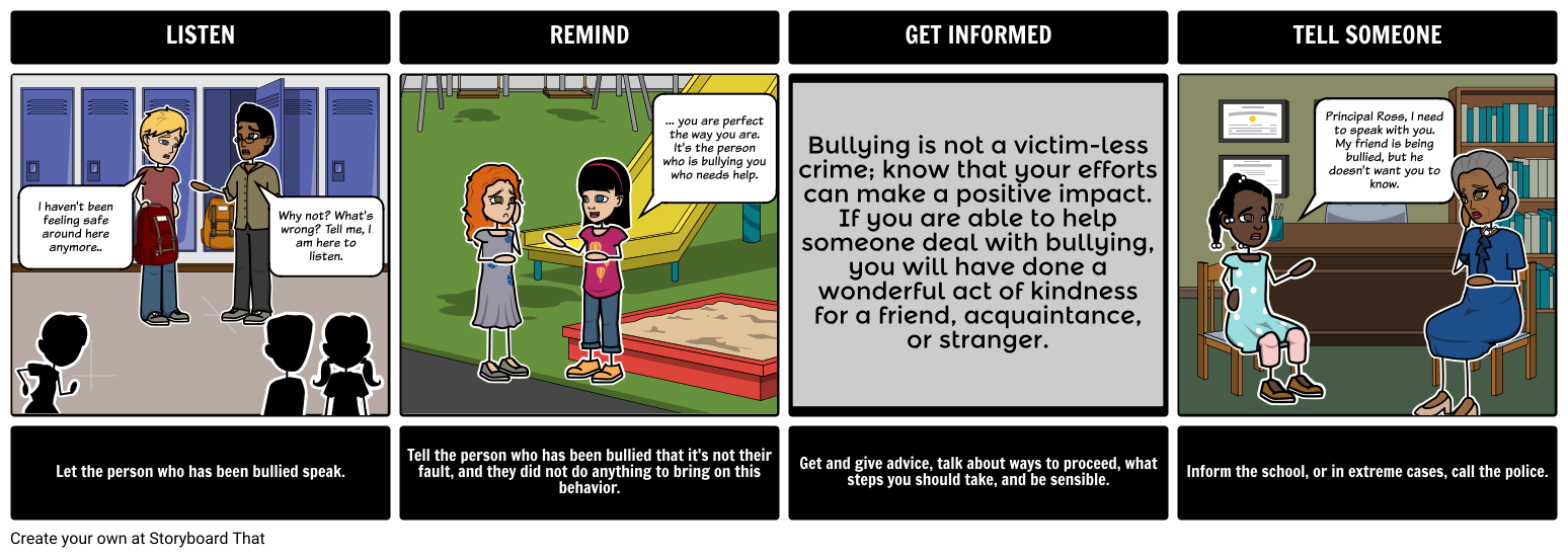 Bullying - Four Actions You Can Do