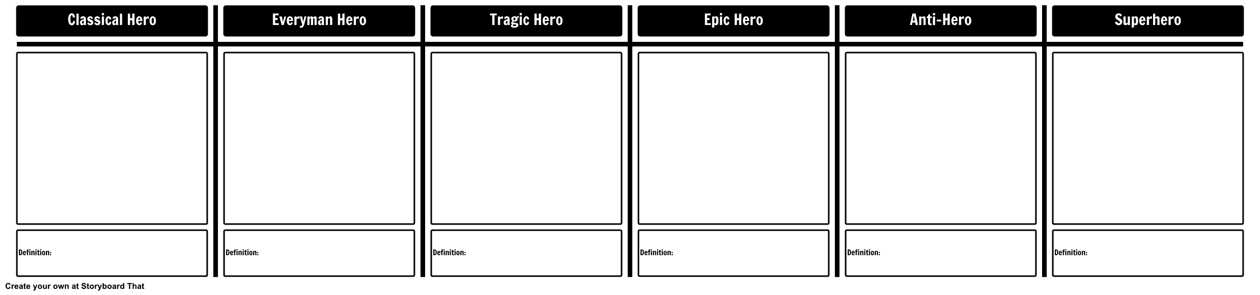 Types of Heroes Template