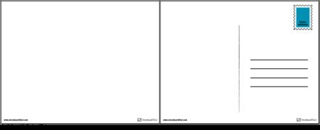 Șablon de Carte Poștală de Proiect de Stat