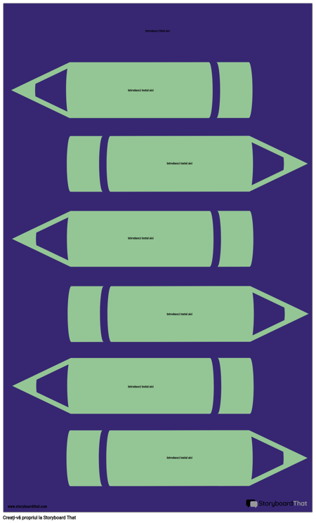 Șablon de Infografie Creioane