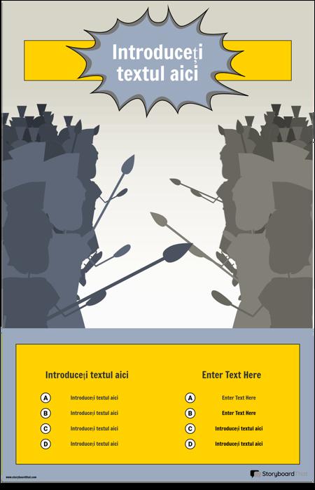 Șablon Infografic Bătălie
