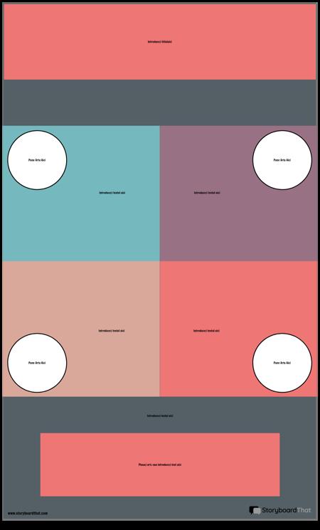 Șablon Infografic Bloc