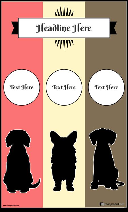 Șablon Infografic cu 3 Coloane