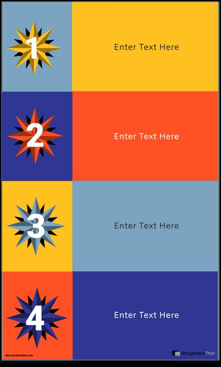 Șablon Infografic cu 4 Blocuri
