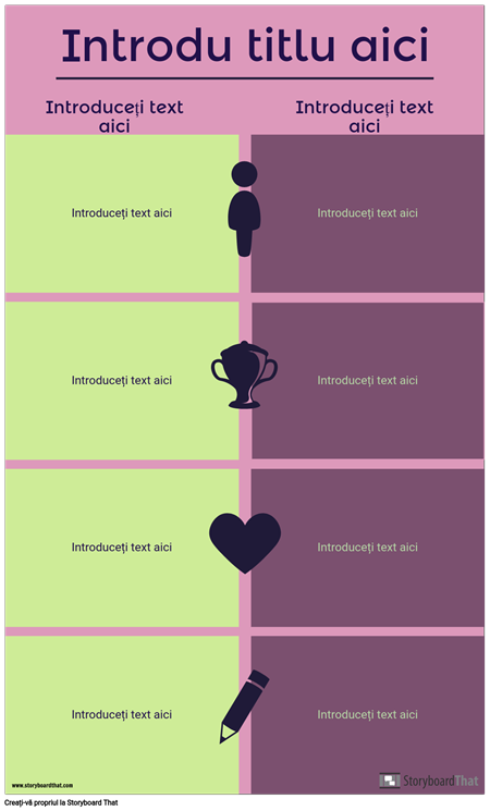 Șablon Infografic de Comparație