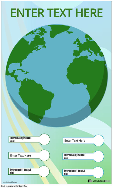 Șablon Infografic Pământ