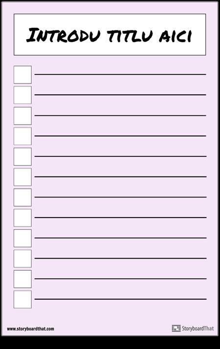 Afiș de Listă de Verificare de Bază
