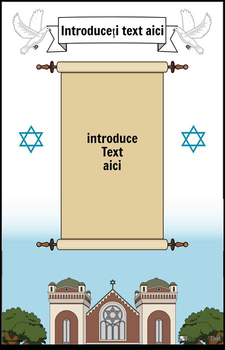Afisul evreiesc cu sul