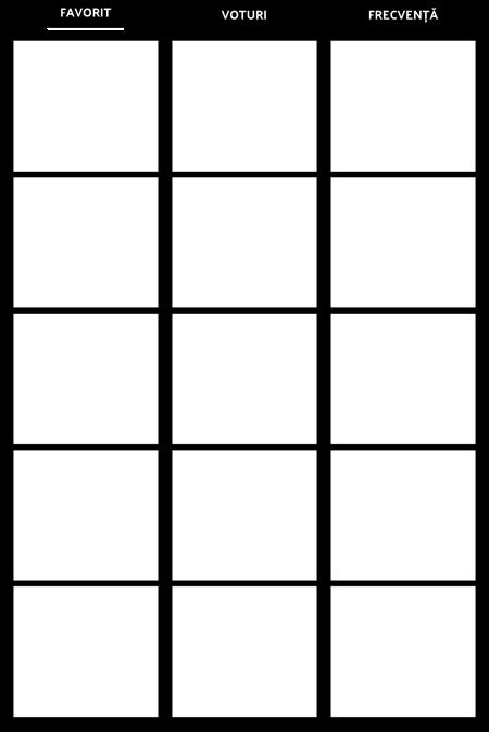 Frecventa Tally Format Chart