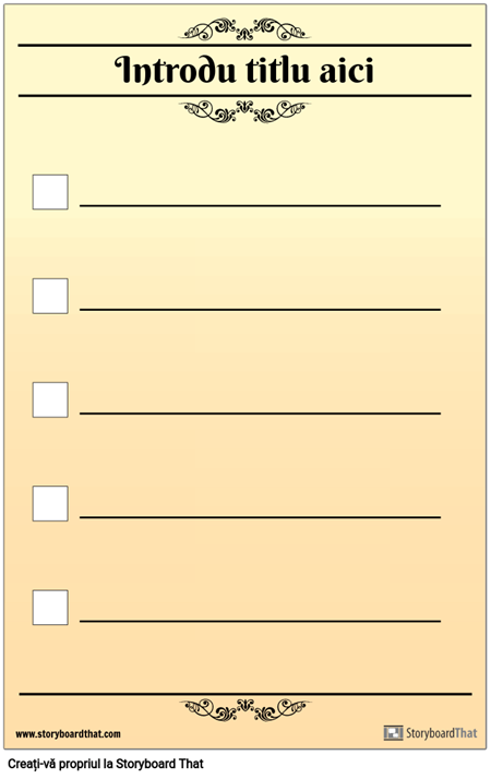 Lista de Verificare de Bază 5