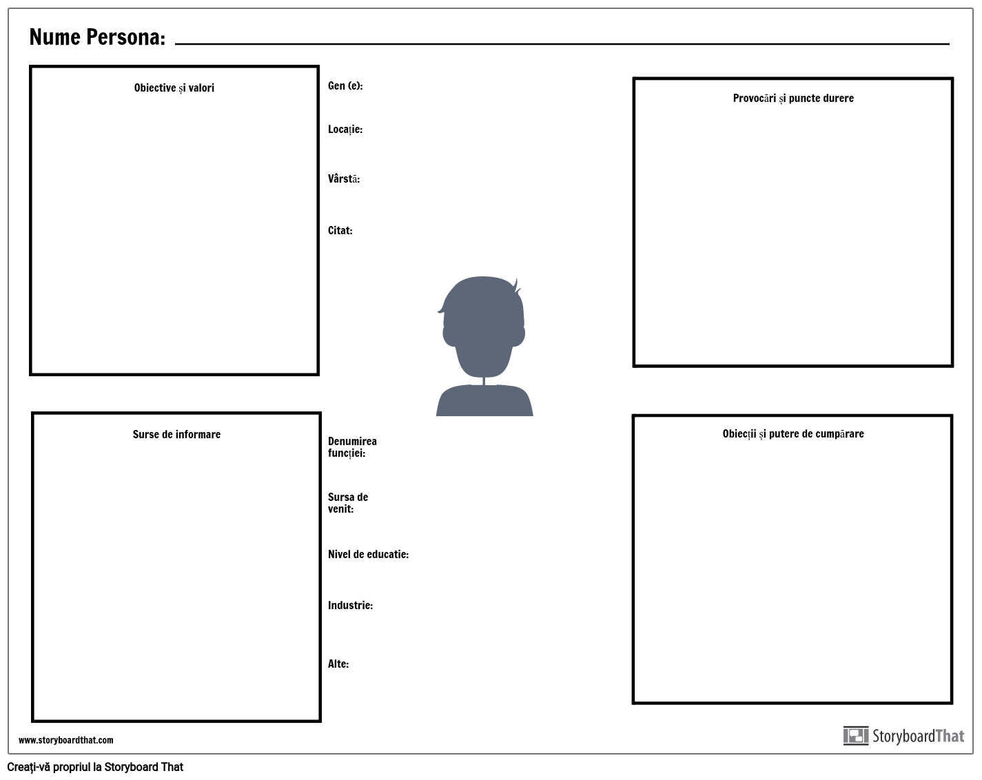 Persona Template Worksheet