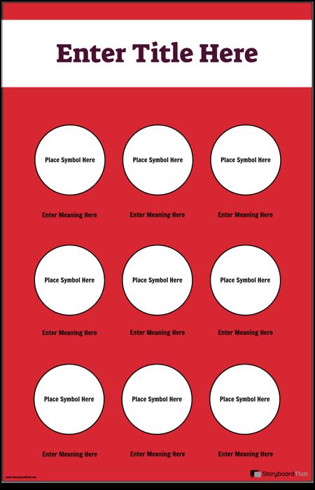 Poster cu Simboluri de Siguranță