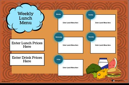 Poster Pentru Meniul de Prânz