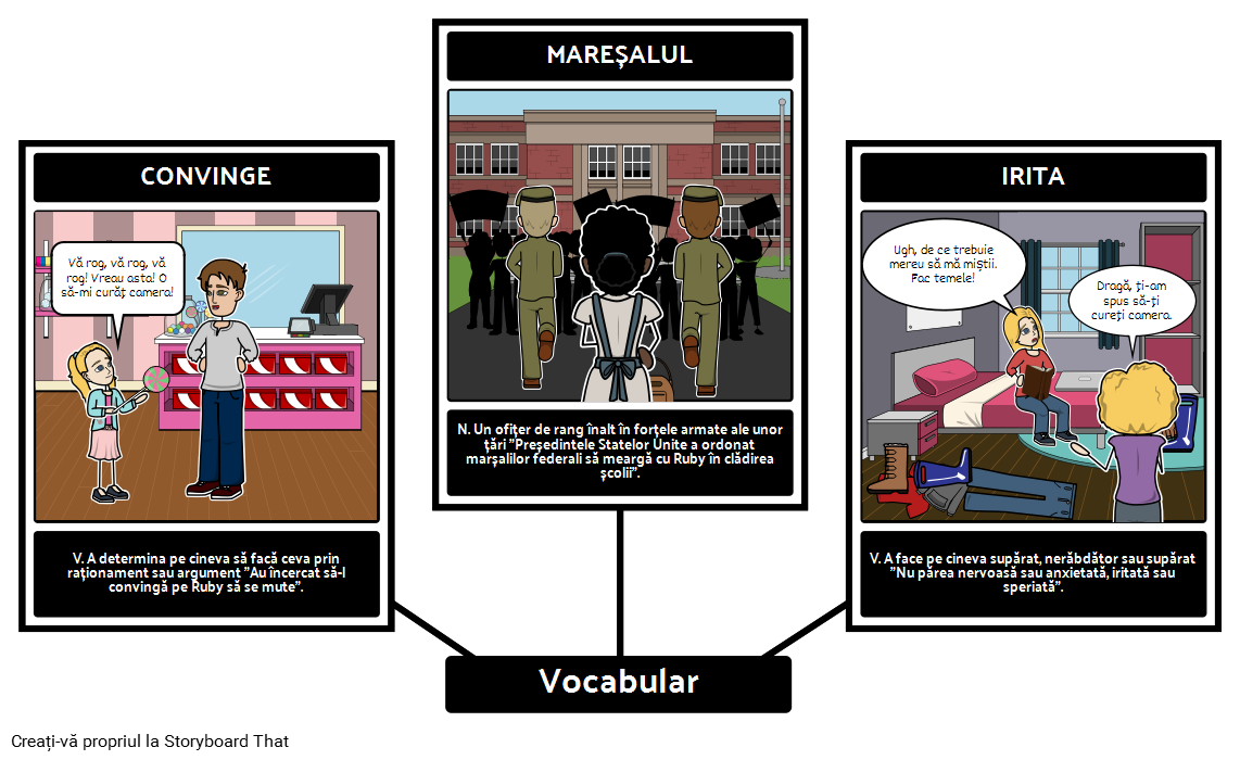 Povestea lui Ruby Bridges - Vocabular