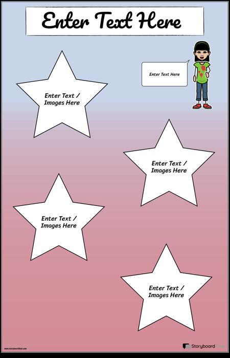 Звездный Туристический Плакат