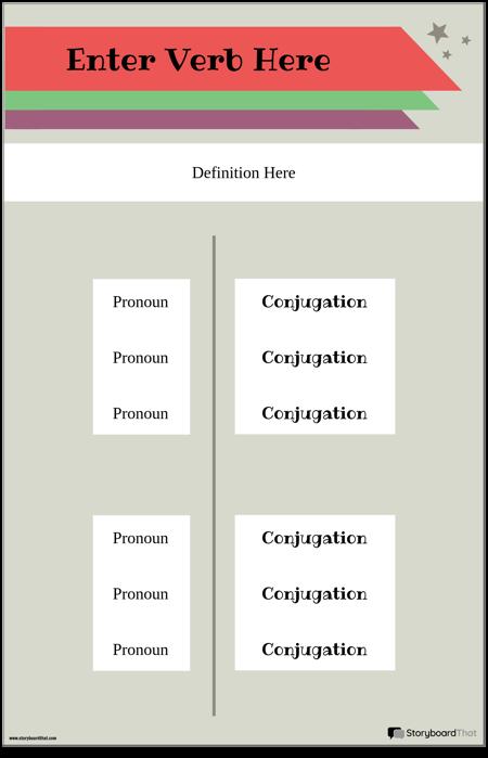 Плакат со Спряжением Глаголов