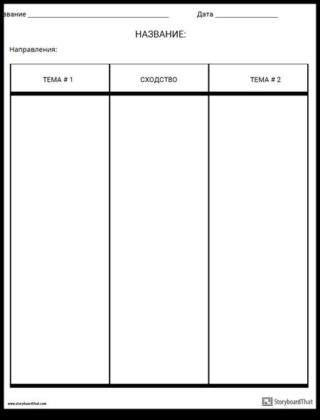 Сравнить Таблицу Контраста