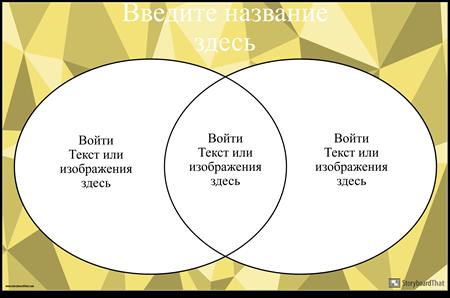 Диаграмма Венна 2 Круга