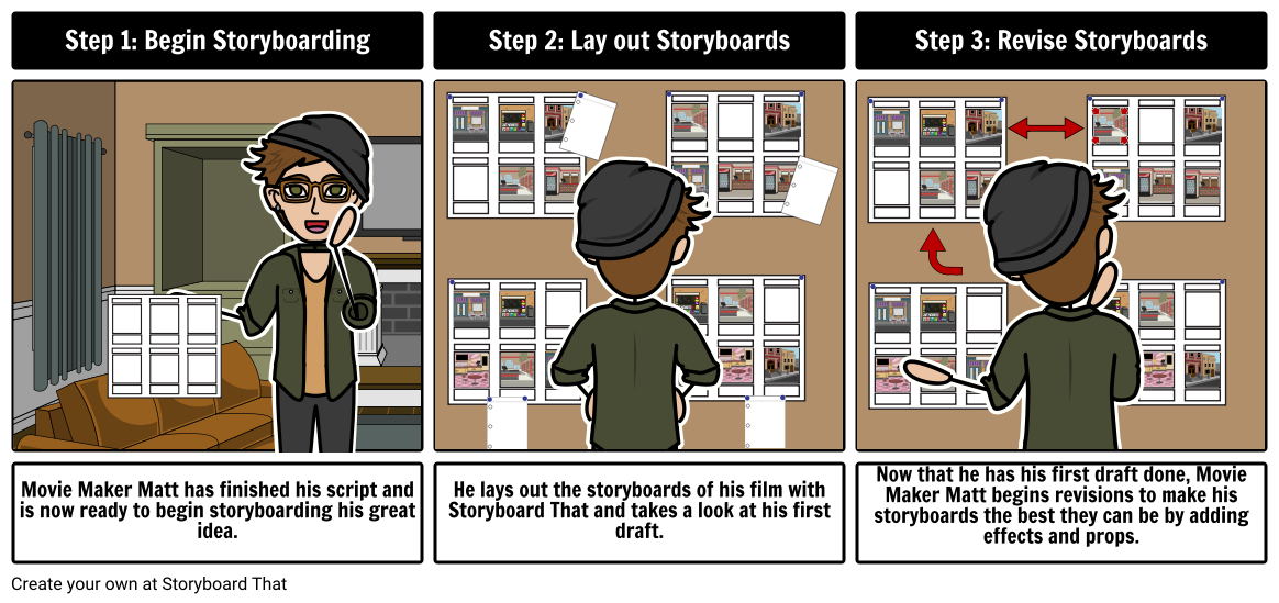Movie Maker Matt Begins Storyboarding
